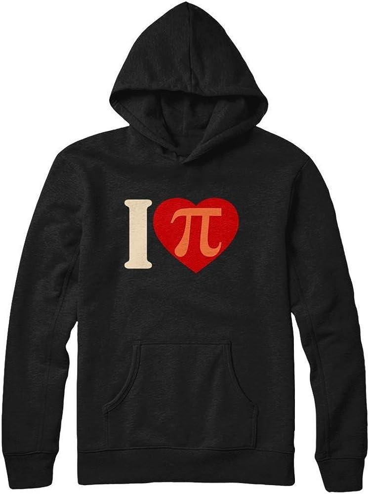 Teely Shop Mens Womans I Love PI Vintage Retro Infinity Math PI Day Gildan Pullover Hoodie