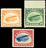 First Three Airmail Stamps Issued By The United States Mint Previously Hinged Scott C1-3 By USPS
