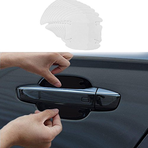 Plastic Door Handle Covers - 12 Pcs Universal Invisible Car Door Handle Scratches Protective Protector Films