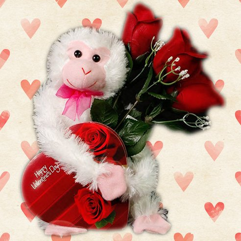 'Stop Monkey-ing Around and Be My Valentine' Candy Gift
