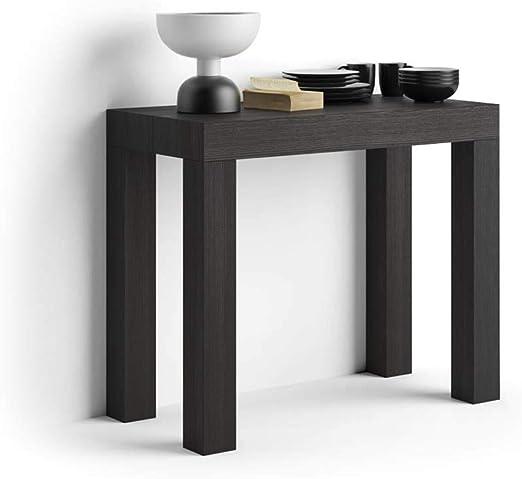 Mobilifiver Mesa Consola Extensible, Modelo First, Color Negro ...