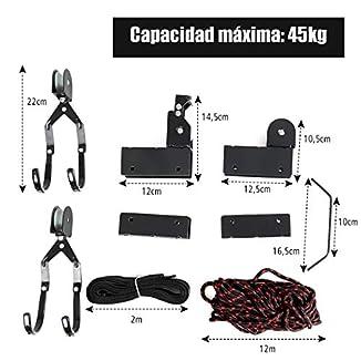 Sistema para colgar kayak del techo 1