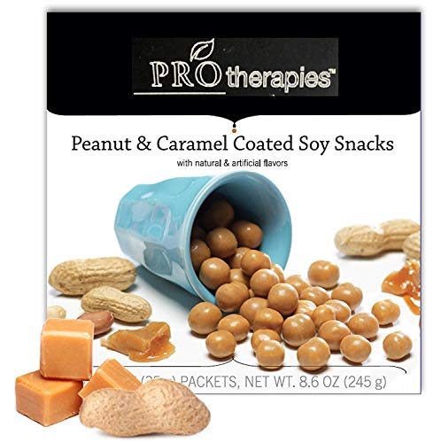 (Caramel and Peanut Covered Soy Snacks - Keto Friendly High Protein Soy Snax (15g Protein) 7 Servings/Pack)