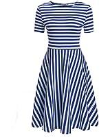 Sylvestidoso Women's A-Line Short Sleeve...