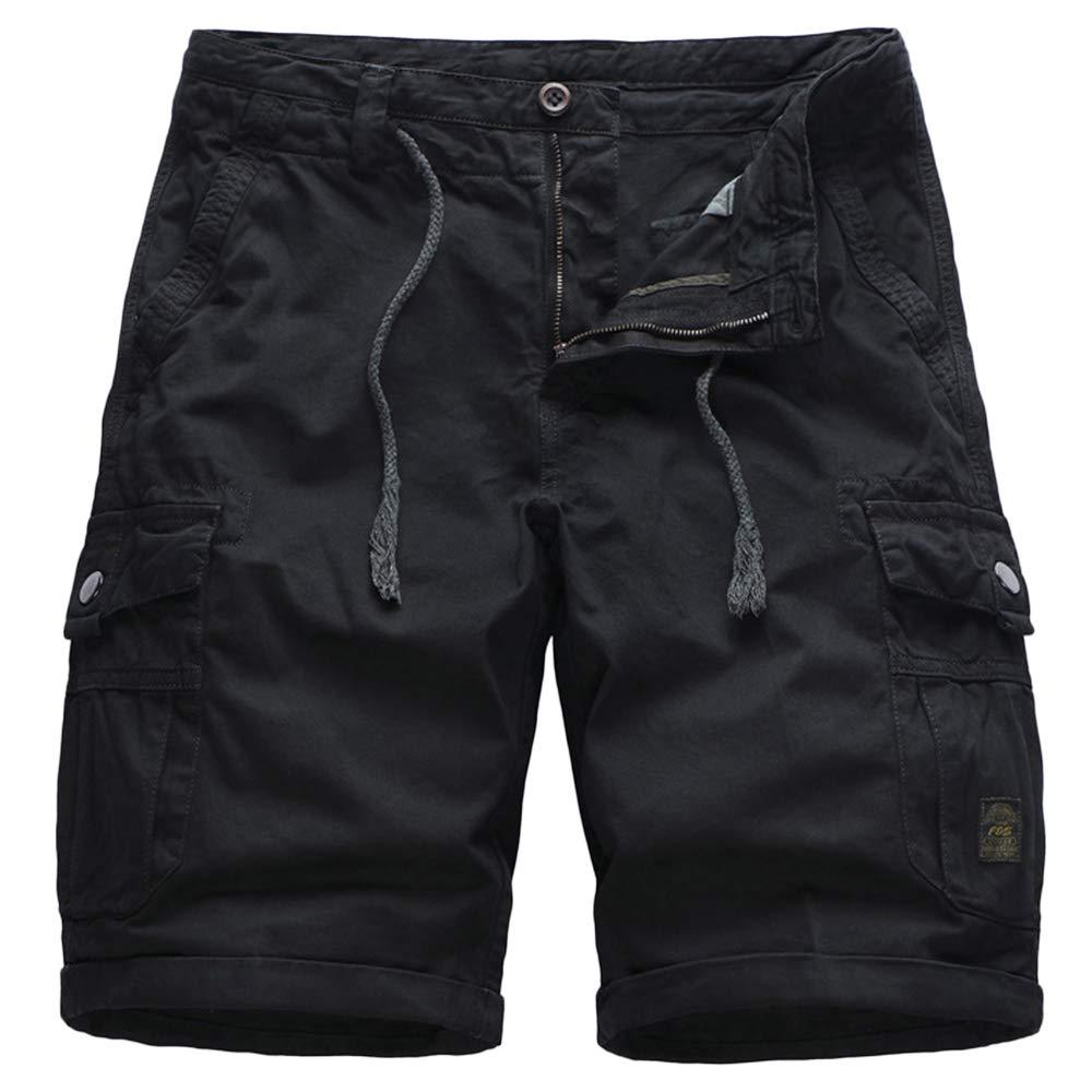 GBRALX Lose Strandshorts für Herren im Militärstil Leichte Outdoor-Shorts mit Mehreren Taschen, die Surf Work Cargo Combat Shorts trainieren