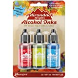 Ranger Adirondack Brights Alcohol Ink 1/2-Ounce 3/Pkg, Dockside Picnic