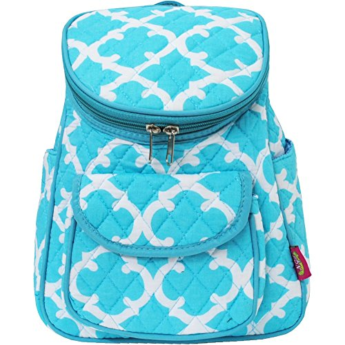 Quilted Geometric Clover Pattern Print Mini Back Pack