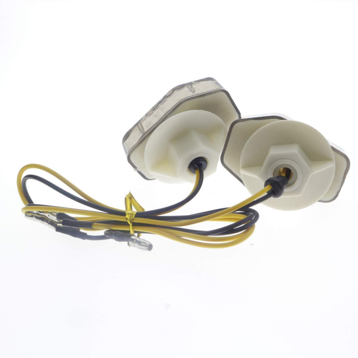 Dunhil 15 Amber LED Flush Mount Turn Signals Universal Indicator Blinker Light For Sport bike Suzuki Honda Yamaha Kawasaki