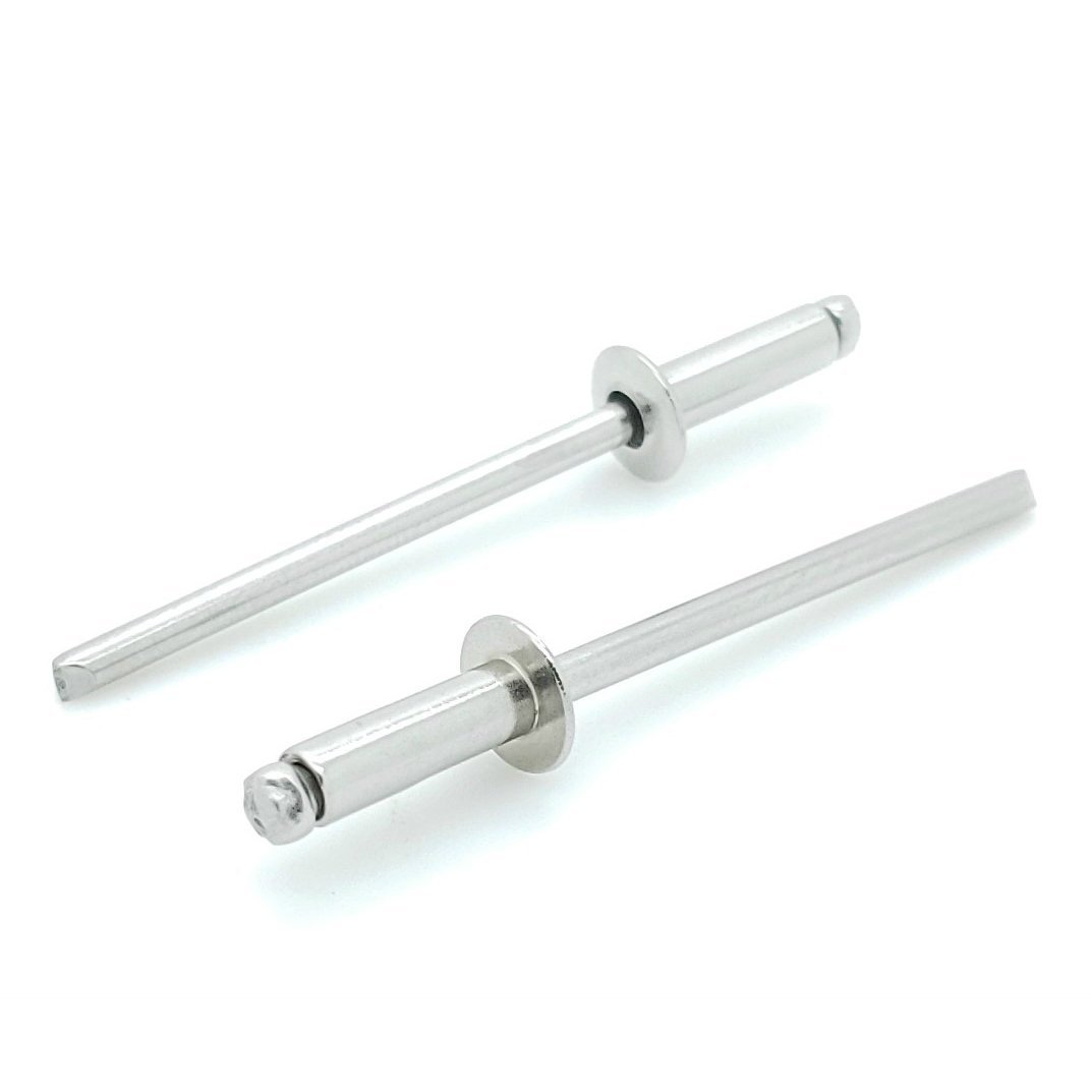 SNUG Fasteners (SNG455) 1000 Qty 304 Stainless Steel Blind Rivets Bulk (#4-4) 1/8'' Diameter x 1/4'' Grip