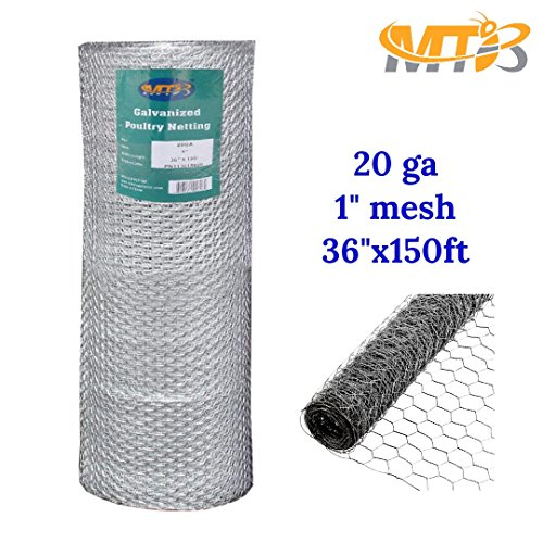 MTB Galvanized Hexagonal Poultry Netting, Chicken Wire 36\