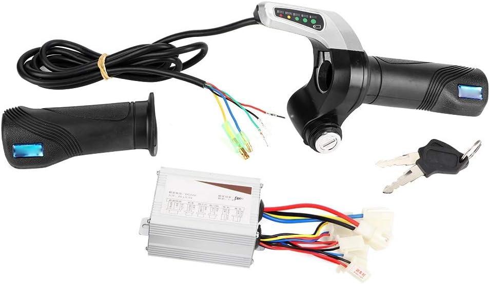Controlador cepillado, Fydun 24V 500W Motor Caja de controlador cepillado con empuñadura del acelerador para bicicleta eléctrica Scooter E-Bike