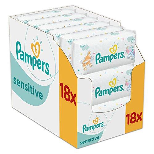 Pampers Sensitive - Toallitas para bebé: Amazon.es: Salud y cuidado personal