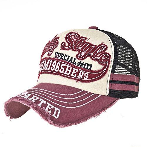 Vintage Rosa Sombrero Meshed Hat béisbol Baseball Trucker de KR1251 Cap WITHMOONS Gorras Trucker Gorra de de Distressed 8TaaFq