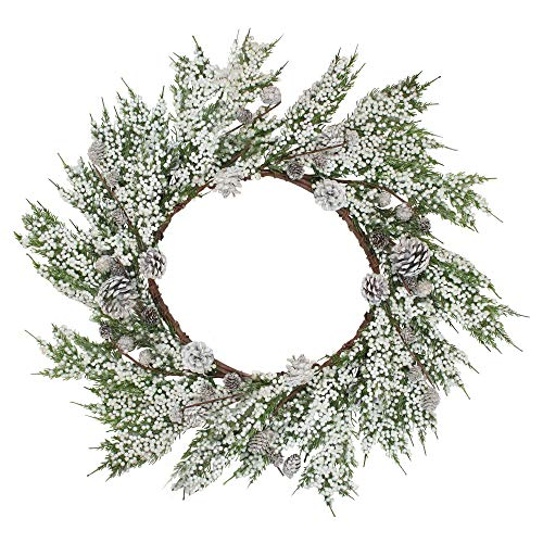Crystal Pine Wreath - Napco 24