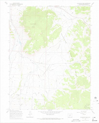 (Colorado Maps | 1967 Cochetopa Park, CO USGS Historical Topographic Map | Cartography Wall Art | 24in x 30in)