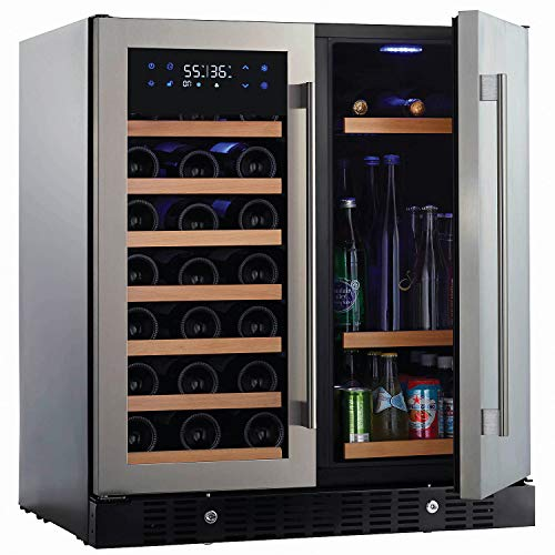 (N'FINITY PRO HDX by Wine Enthusiast Wine & Beverage Center - Holds 90 Cans & 35 Wine Bottles - Freestanding or Built-In Wine Refrigerator)
