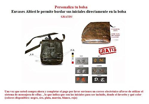 BOLSA DE HOMBRO ARTE MENS DE CUERO GENUINO, MOD: MINI TERRY - NEGRO L15XH21XP3