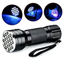 GuDoQi UV Torch Flashlight Torch 21 LED Flashlight Ghost Hunting
