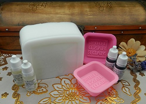 Melt and Pour Hand Made Soap Making Kit for Beginners Shea Butter Soap Base MP with Natural Fragrant Oil (Lavender-Rose)