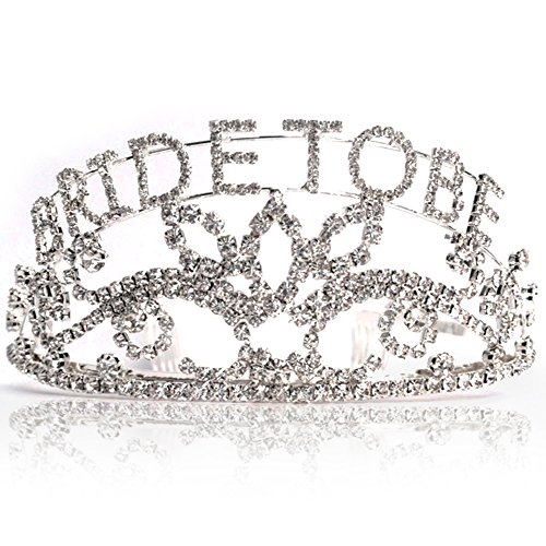 Bride to Be Tiara Finest Quality Rhinestones Elegant Gift Bachelorette Party Bridal Shower -