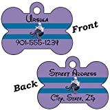 Disney Ursula Little Mermaid Double Sided Pet Id Tag for Dogs & Cats Personalized with 4 Lines of Text