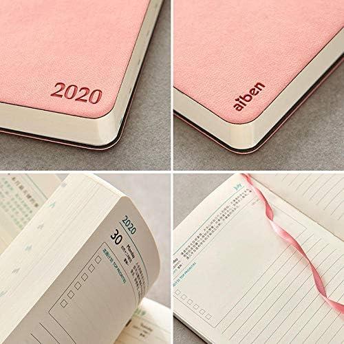 taschentagebuch 2020 2020 kalendertagebuch zeitplan plan notizbuch schreibwaren tragbares notizbuch-mädchen pulver 2020 planertagebuch