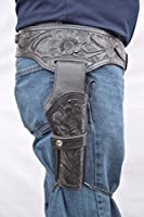 Leathertown USA Gun Holster & Belt Cowboy Western Style Rig .44/.45 Cal Single Drop Holster Standard Long Barrel