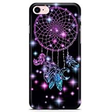 iPhone 7 Case, iPhone 8 Case, Midnight Dream Catcher Phone Case by Casechimp® | Clear Ultra Thin Lightweight Gel Silicon TPU Protective Cover | Lotus Dream Catcher Dormeo Teepee Love