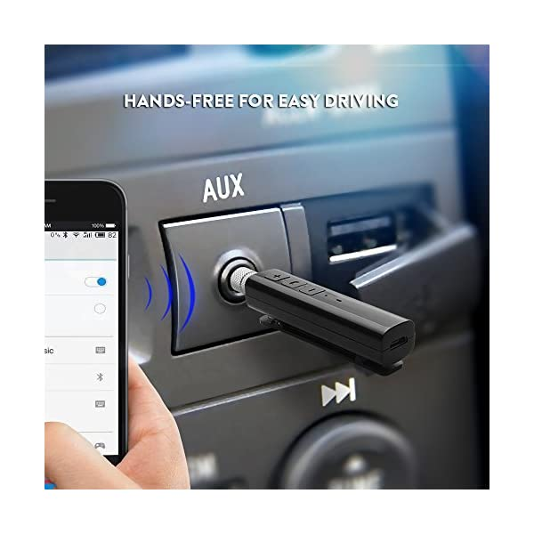 Bluetooth Receiver Wireless Audio Adapter Car Kit Audio Blue Tooth Hands Free 35mm Jack Music Receiver For Iphone 78 78 Plus Car AudioWired HeadphonesSpeakerAUX Home Stereo