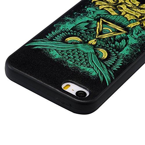 iPhone SE / 5 / 5S Hülle 3D Kleiner Teufel Premium Handy Tasche Schutz Schale Für Apple iPhone SE / 5 / 5S + Zwei Geschenk