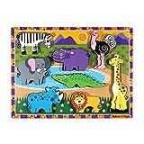 Melissa & Doug Safari Chunky Puzzle, 1 Ea