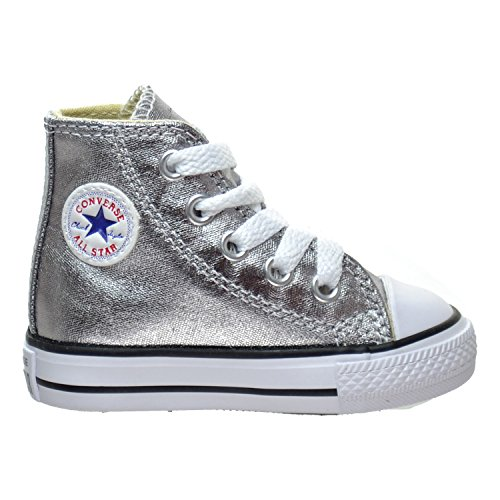 Converse Chuck Taylor All Star Hi Metallic Gunmetal (Toddler) (10 Toddler M) by Converse