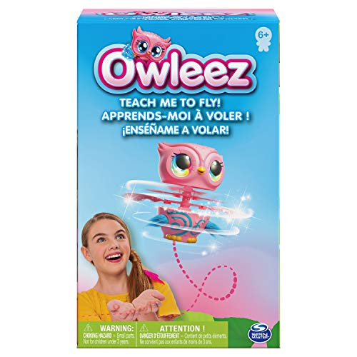 510Jhs6te7L - Owleez, Flying Baby Owl Interactive Toy with Lights & Sounds (Pink), for Kids Aged 6 & Up