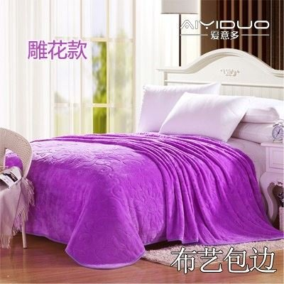 Znzbzt small blanket afternoon nap office single cute mini cover and small blankets winter student adult thick warm ,200x230cm [thick package of health, elegant Purple