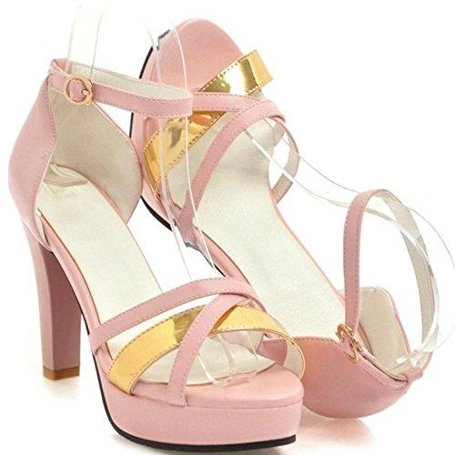 Femmes Chaussures Coolcept Roses Bride Sandales Cheville La À Les d50c6qxwUd