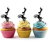 Extreme Sport Freestyle Motocross Cupcake Cake Topper para tartas decoración para ceremonia de cumpleaños celebración boda