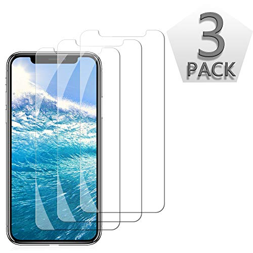 TicTacTechs [3 Pack] Screen Protector Compatible iPhone XR (6.1inch 2018 Release),0.33mm Tempered Glass, Compatible iPhone XR ,Anti-Scratch,Advanced HD Clarity Work Most Case (Clear) (Best Galaxy Note 3 Accessories)