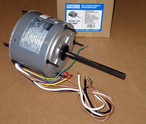 Fasco D7908 5.6-Inch Condenser Fan Motor, 1/3 HP, 208-230 Volts, 1075 RPM, 1 Speed, 2.6 Amps, Totally Enclosed, Reversible Rotation, Ball Bearing (Ac Compressor Fan)