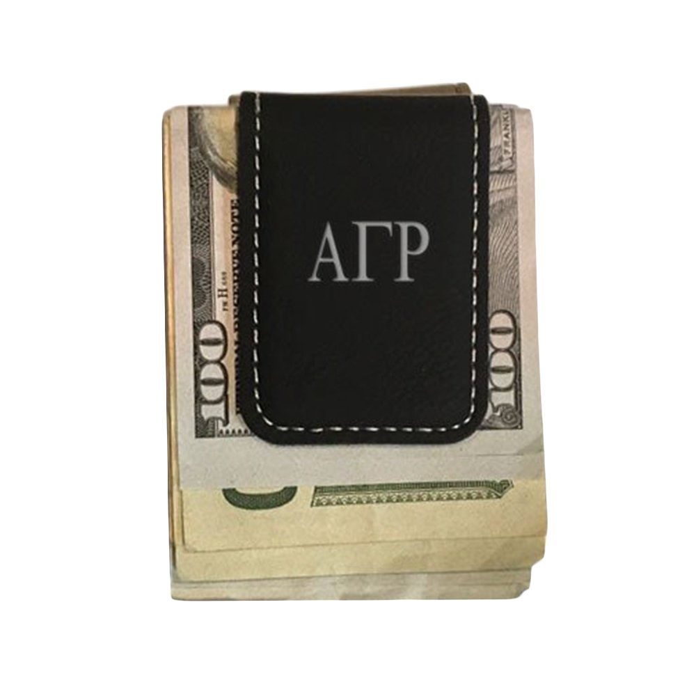 Alpha Gamma Rho Leatherette New Money Clip