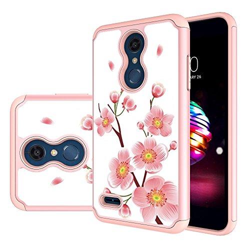 LG K30 Case, LG Phoenix Plus/LG Harmony 2/LG K10 2018/LG Premier Pro Case,MAIKEZI Hybrid Dual Layer TPU Plastic Phone Case for LG K10 Plus/LG K10 alpha 2018(Rose Gold)