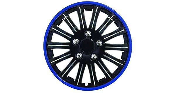 4 Tapacubos Azul Negro 15 coppe Tachuelas para rueda RENAULT MEGANE II: Amazon.es: Coche y moto