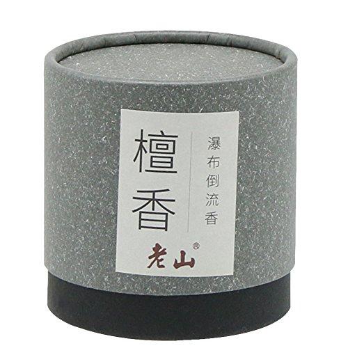 Backflow Cone Incense-100g Natural Sandalwood Cone Incense Waterfall Incense Backflow Incense(Grey)