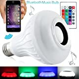 12w Bluetooth Speaker LED Light Bulb RGBW Changing Lamp with 24 Keys Remote Control