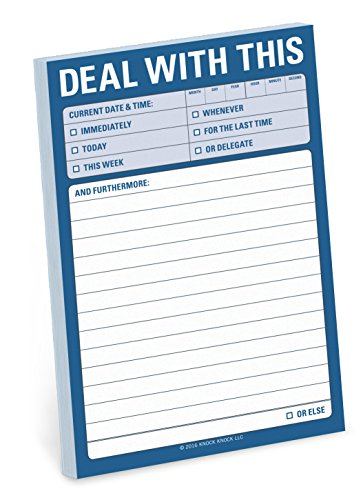 Knock Knock Deal with This Great Big Sticky Note, Large Sticky Notepad, 4 x 6-inches