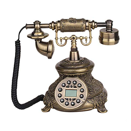 Telephone Landline Corded Phone Vintage Antique Style Old Fashioned Retro Home Office Decoration - Office & School Supplies Office Equipment - 1 x Wireless Mouse ()