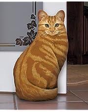 Orange Tabby Cat Door stop Decorative Door Stopper Interior