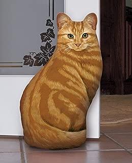 product image for Fiddler's Elbow Orange Tabby Cat Door Stop, Decorative Door Stopper, Interior, Unique Doorstop, Cat Doorstop