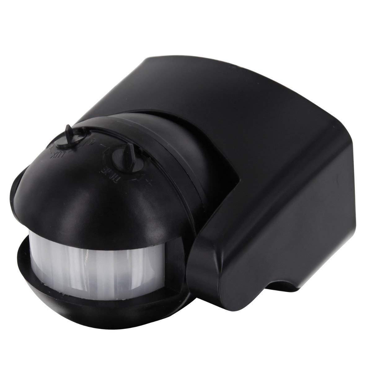 Detector de Movimiento IP44 Infrarrojos 180 °  –  con Sensor de Oscuridad –  orientable –  Apta para LED. HAVA