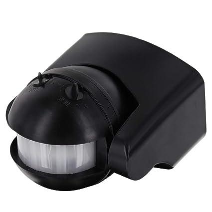 Detector de Movimiento IP44 Infrarrojos 180 ° - con Sensor de Oscuridad - orientable - Apta