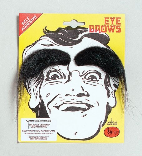 Black Bushy Stick-on Eyebrows ()